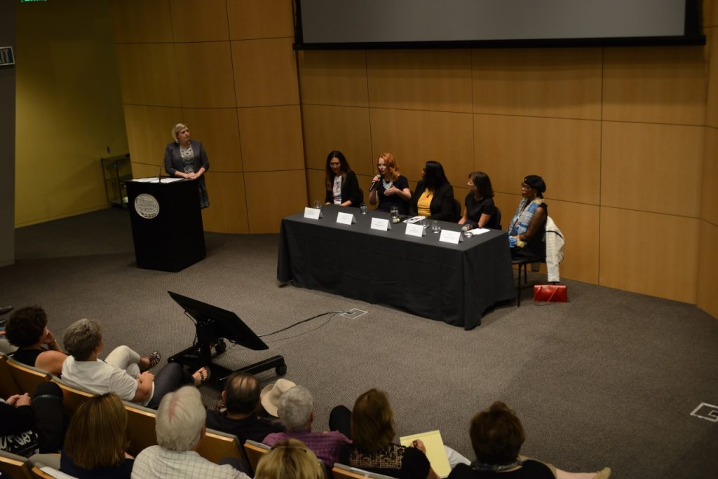 Panel discussion at screening of RBG